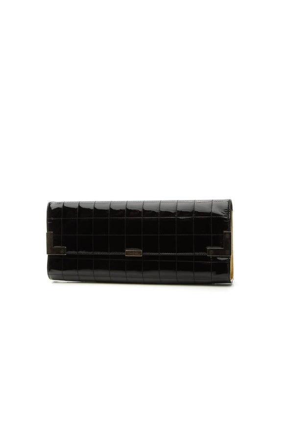 Chanel Chocolate Bar Long Clutch Bag - Black