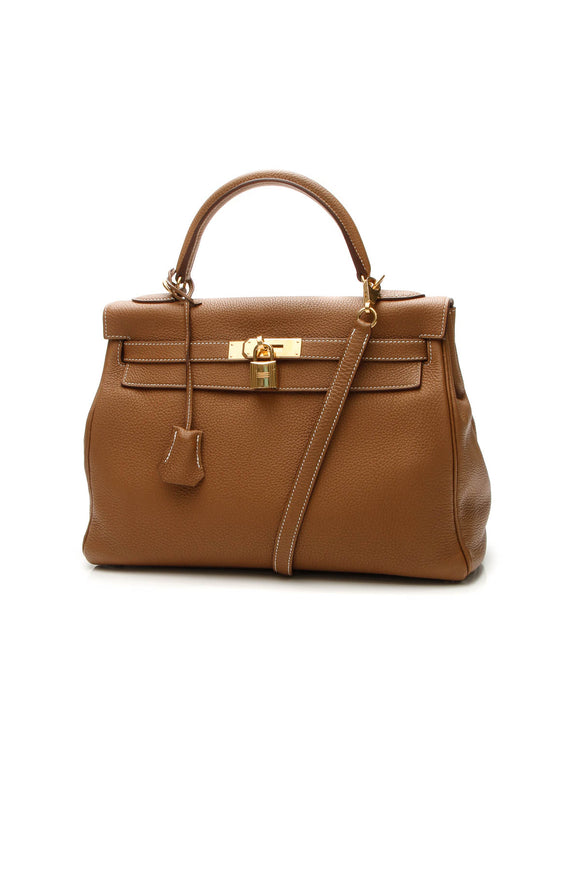 Hermes Kelly Retourne 32 Bag - Gold Togo