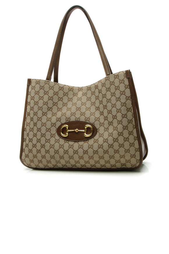 Gucci 1955 Horsebit Tote Bag - Signature Canvas