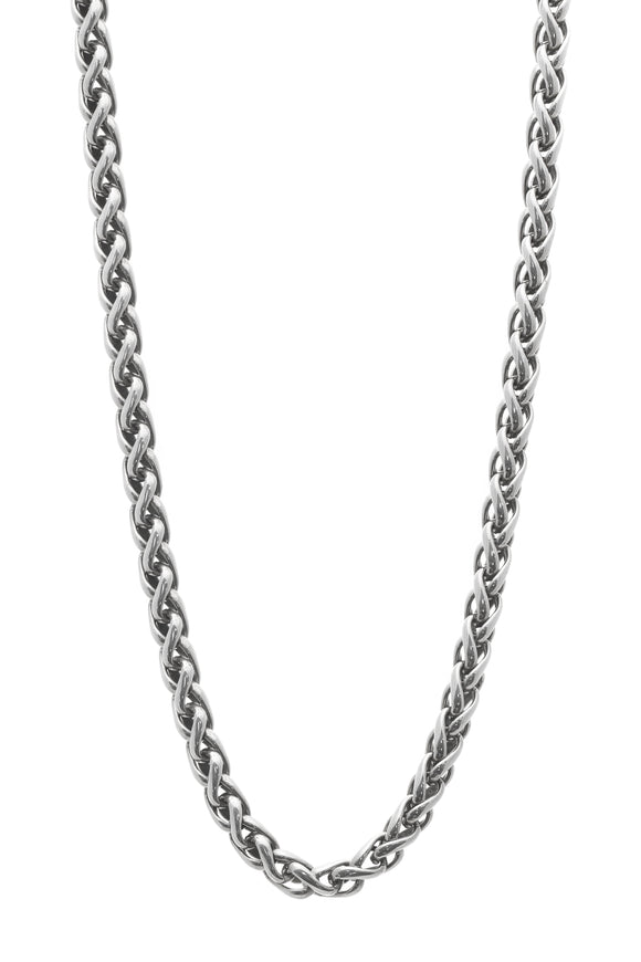 David Yurman 6mm Wheat Chain Necklace - Silver/Gold