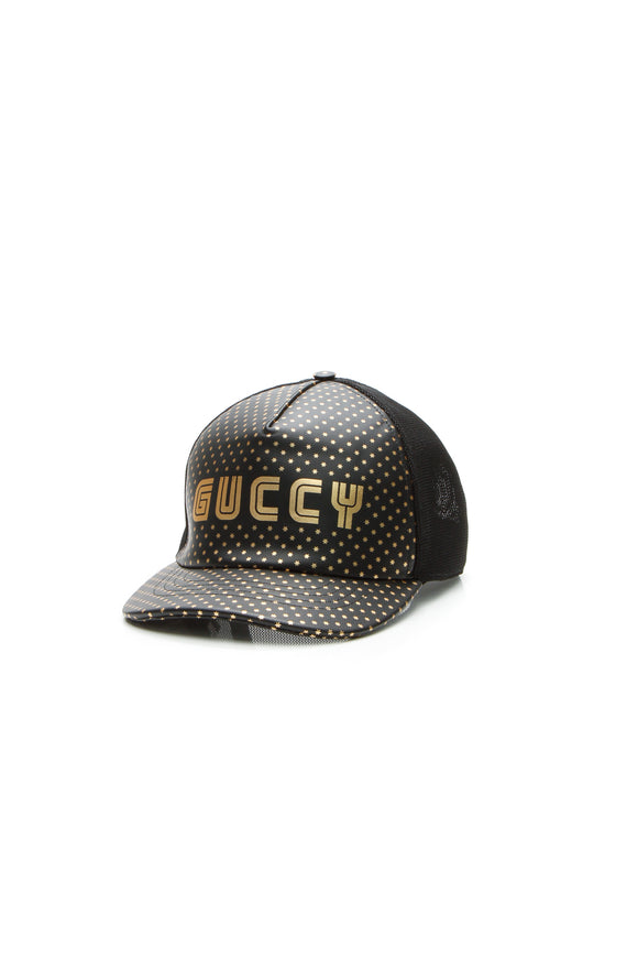 Gucci Guccy Baseball Cap - Black/Gold Size Extra Large