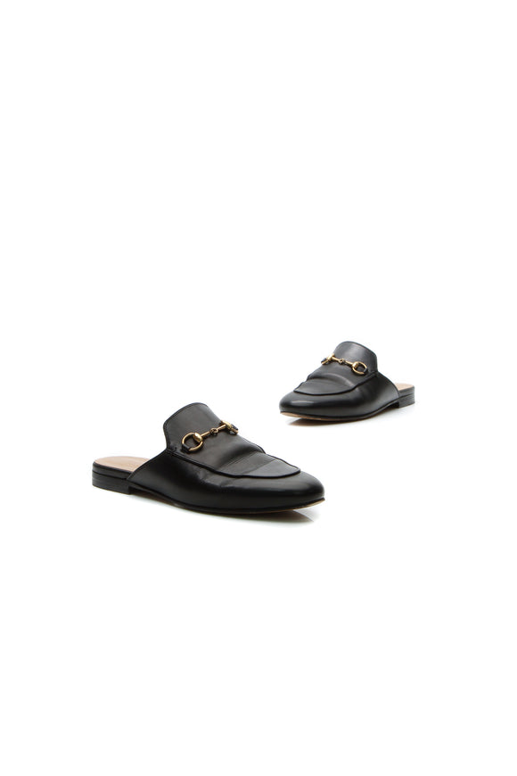 Gucci Horsebit Princetown Slippers - Black Size 37.5