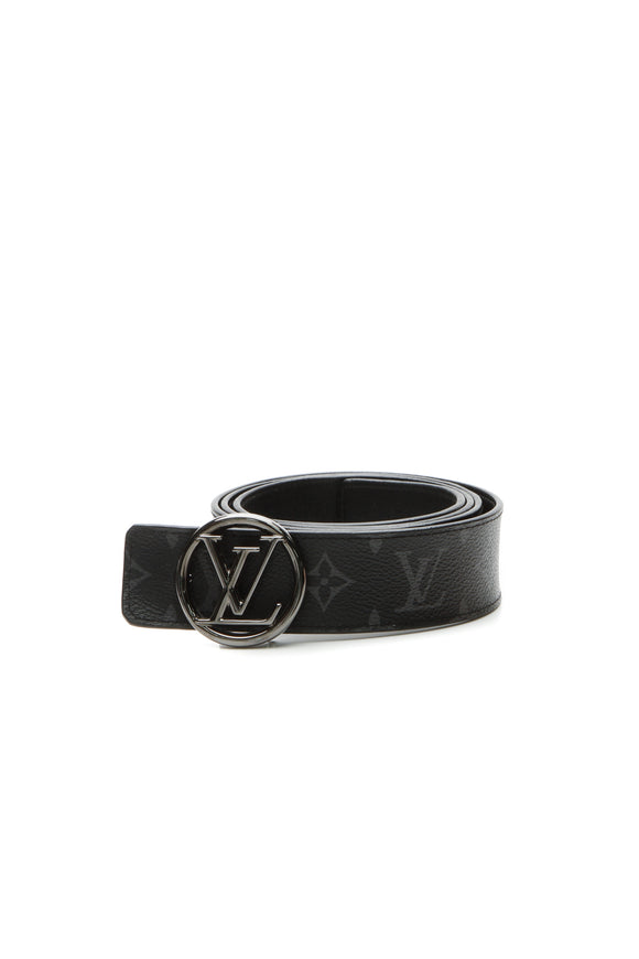 Louis Vuitton LV Circle 40mm Reversible Belt - Monogram Eclipse Size 44
