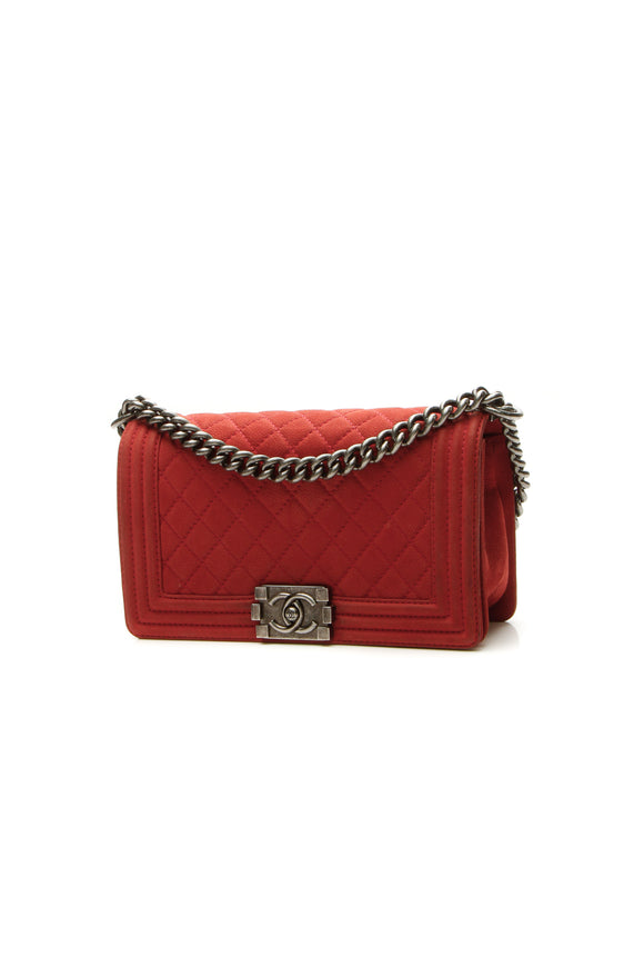 Chanel Old Medium Boy Bag - Rust Matte Caviar