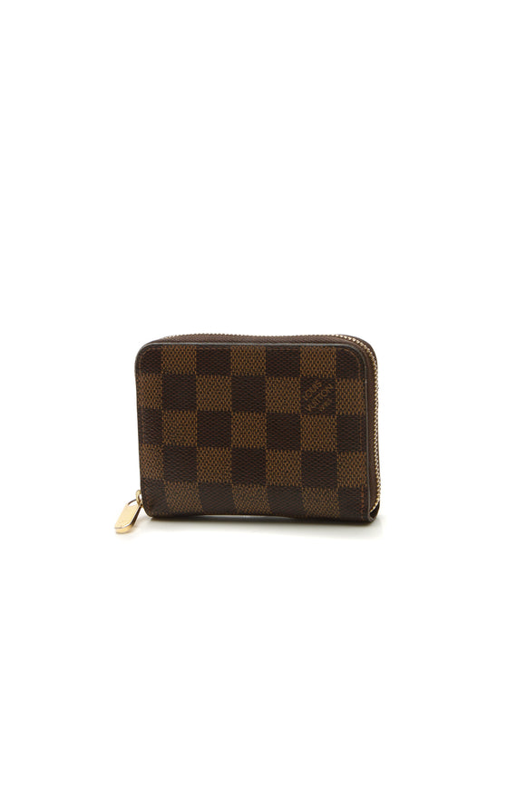 Louis Vuitton Zippy Coin Purse Wallet - Damier Ebene