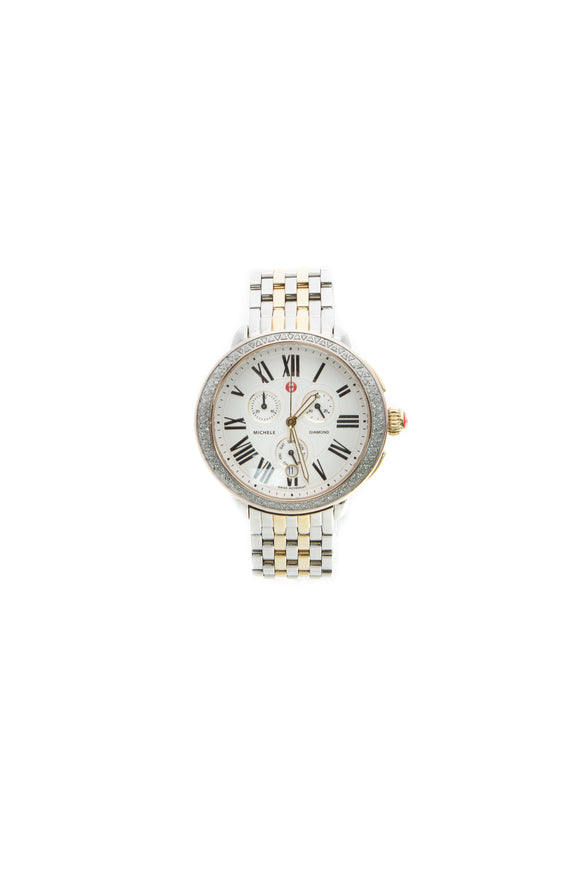 Michele Diamond Serein Watch - Steel/Gold-Plated