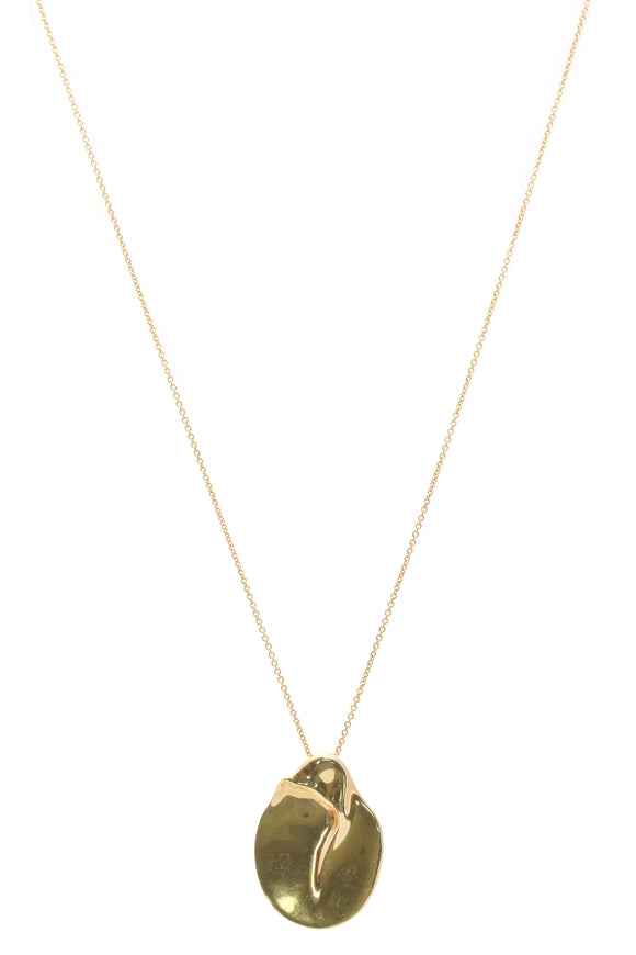 Tiffany & Co. Elsa Peretti Bone Disk Pendant Necklace - Gold