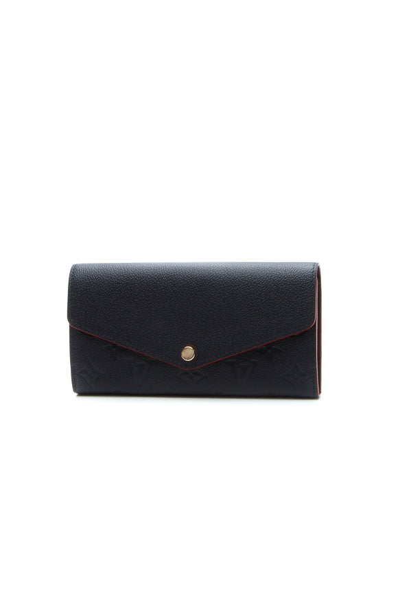 Louis Vuitton Empreinte Sarah Wallet - Marine Rouge