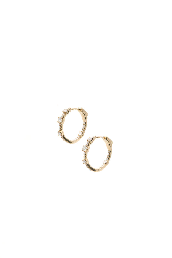Anita Ko Collins Diamond Hoop Earrings - Gold