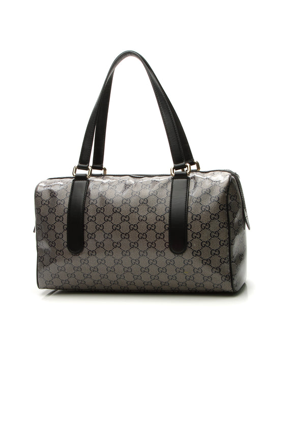 Gucci Boston Bag - Navy Sparkle Crystal Canvas