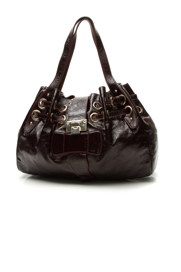 Jimmy Choo Riki Shoulder Bag - Bordeaux