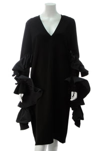 Ellery Molotov Ruffle Sleeve Dress - Black Size 10