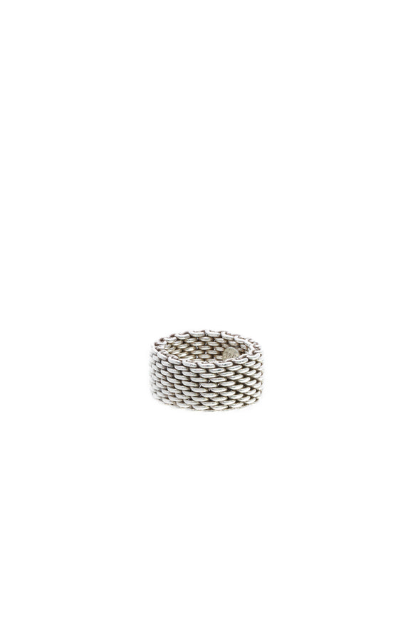 Tiffany & Co. Somerset Band Ring - Silver Size 6