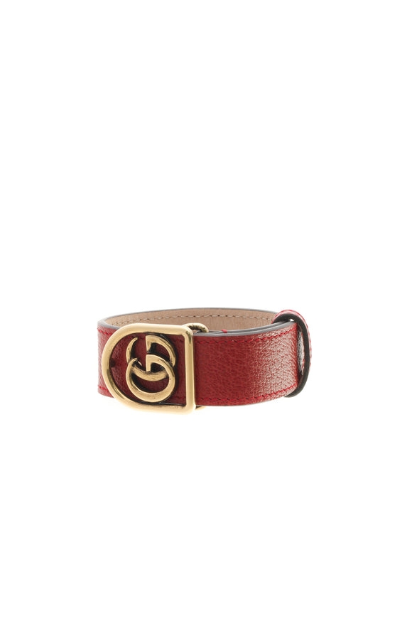 Gucci Double G Marmont Wrap Bracelet - Red Size Small