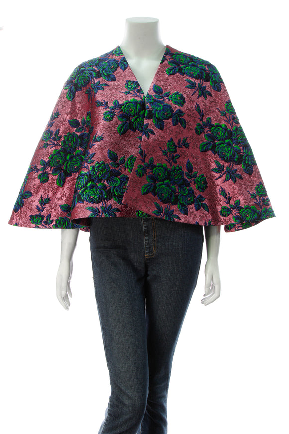 Gucci Floral Brocade Cape - Pink Size Medium
