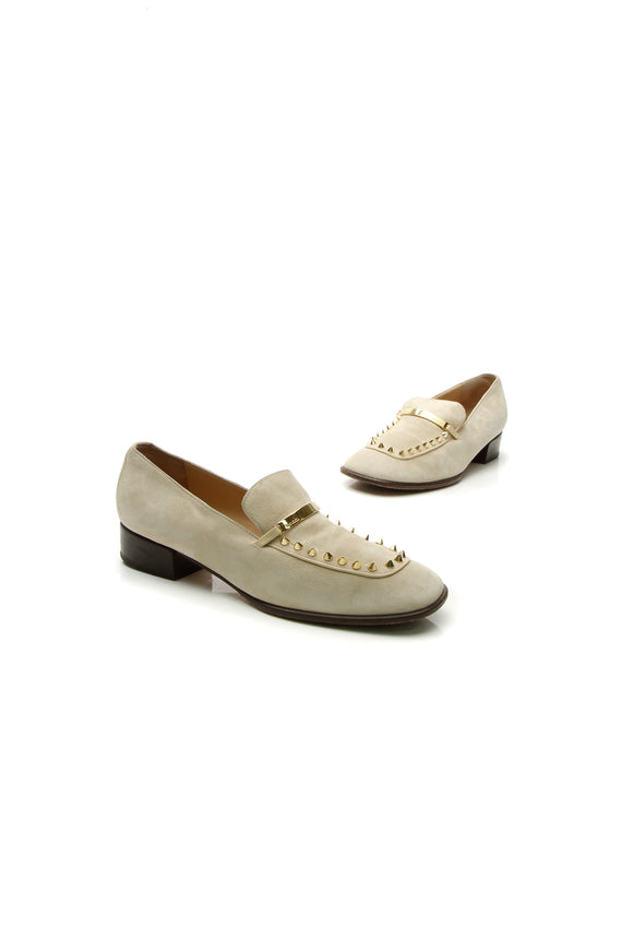 Gucci Spike Loafers - Beige Size 37