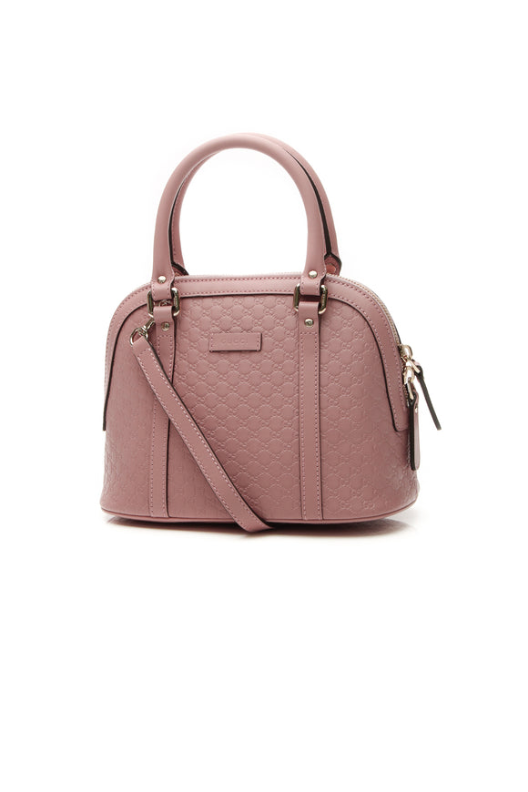 Gucci Mini Dome Bag - Soft Pink Microguccissima