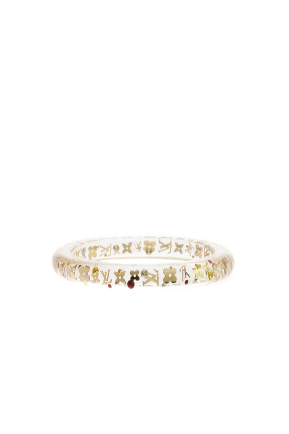 Louis Vuitton Inclusion PM Bangle Bracelet - Clear/Gold