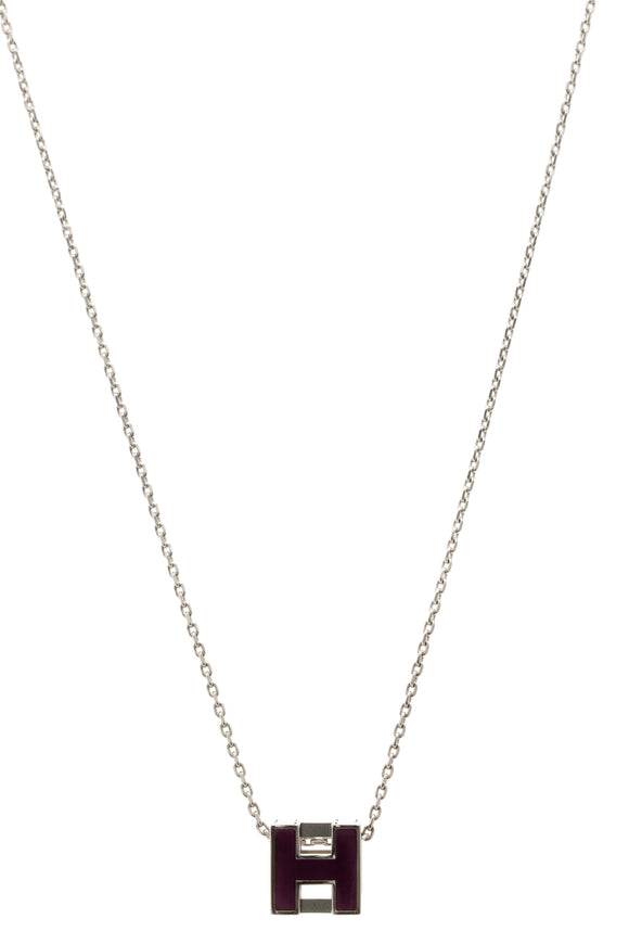 Hermes Cage d'H Necklace - Plum