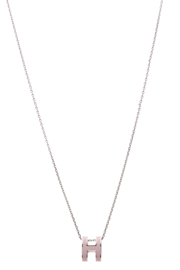 Hermes Pop H Necklace - Pink