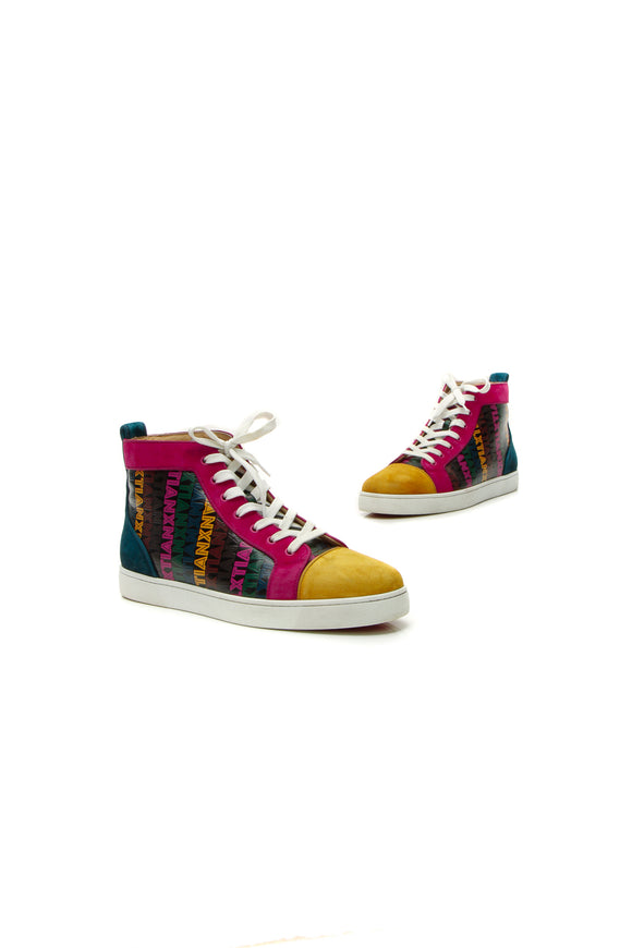 Christian Louboutin Xtian Print Men's Sneakers - Multicolor US Size 11