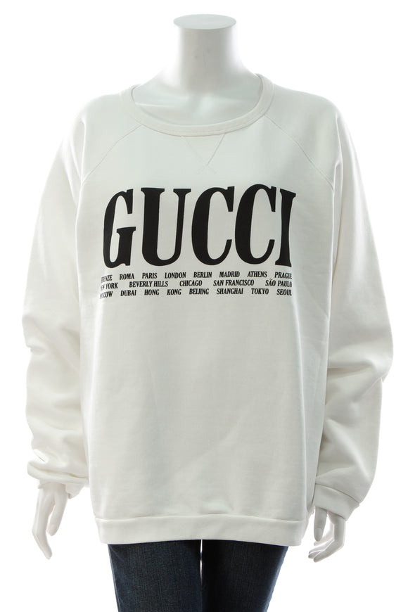Gucci Flagship Cities Sweatshirt - White Size Large
