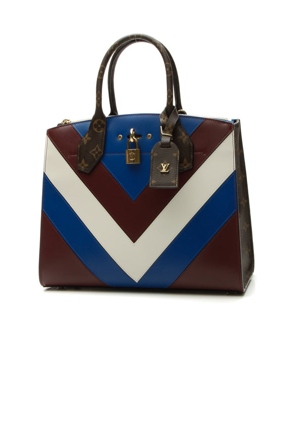 Louis Vuitton Chevron City Steamer MM Bag - Multicolor