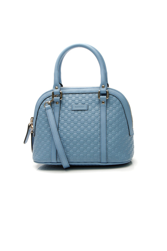 Gucci Mini Dome Bag - Blue Microguccissima