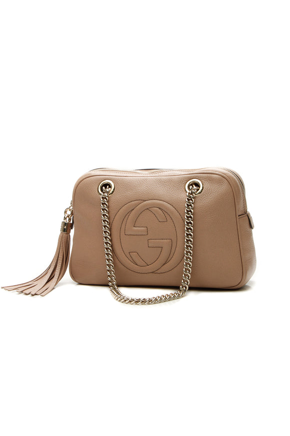Gucci Soho Chain Shoulder Bag - Rose Beige