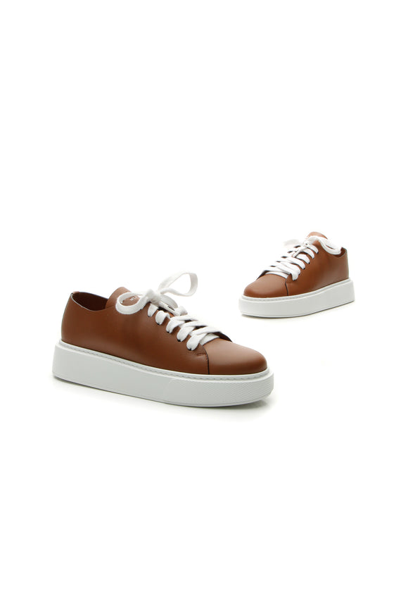 Prada Platform Sneakers - Brown Size 39.5