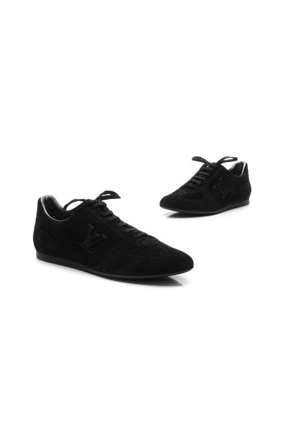 Louis Vuitton Perforated Low-Top Sneakers - Black Size 41