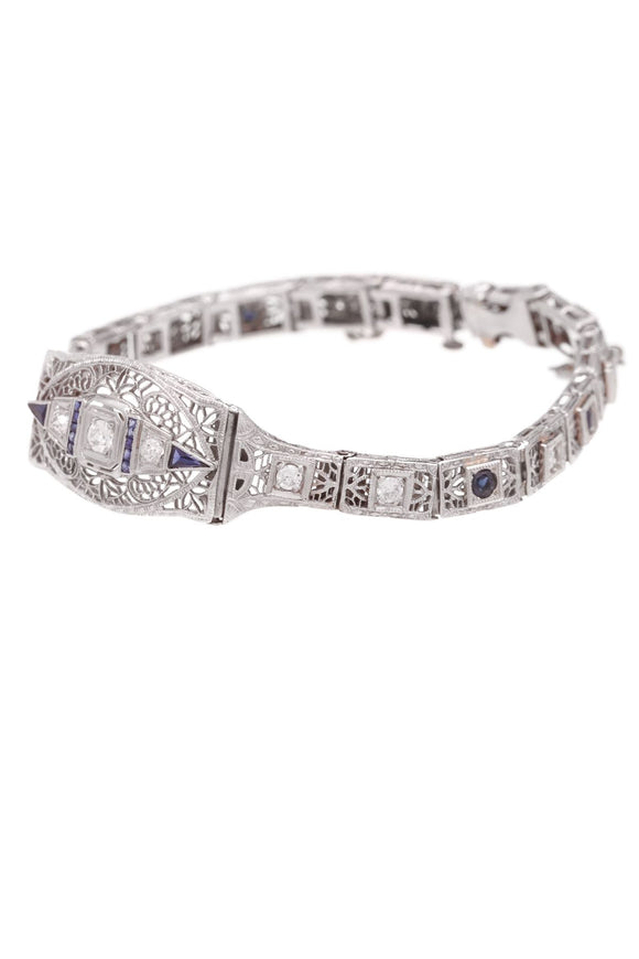 14k-white-gold-diamond-sapphire-antique-deco-bracelet