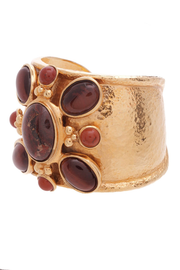 barrera-tigers-eye-hammered-cuff-bracelet