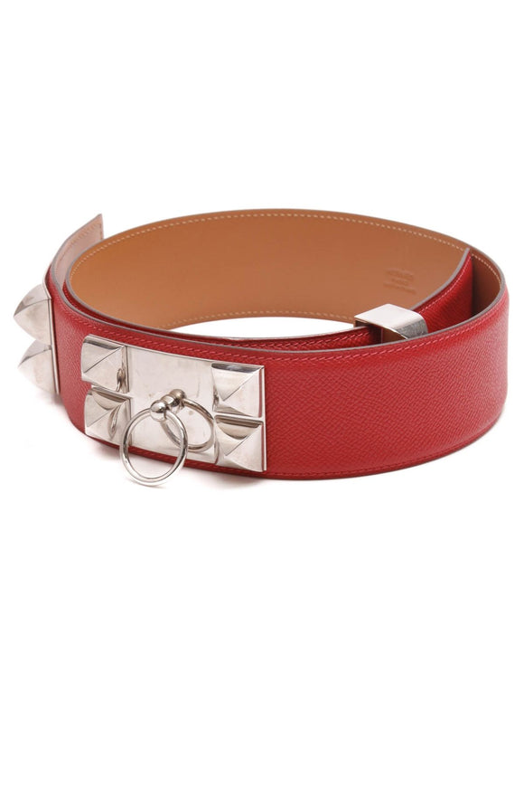hermes-collier-de-chien-belt-red-epsom