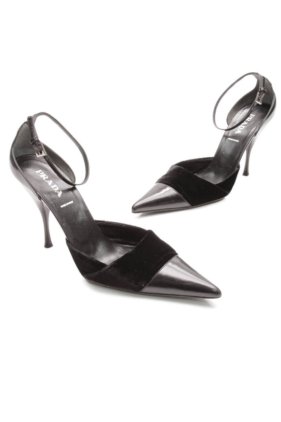 prada-black-leather-velvet-cap-toe-heels