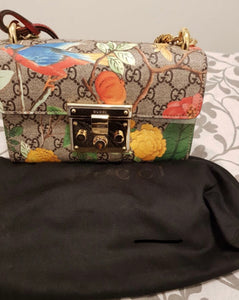 Gucci small blooms padlock bag
