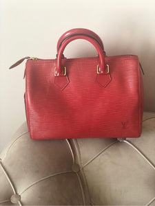 Louis Vuitton red Epi Speedy