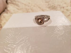 David Yurman Petite Albion Ring - Morganite & Diamonds