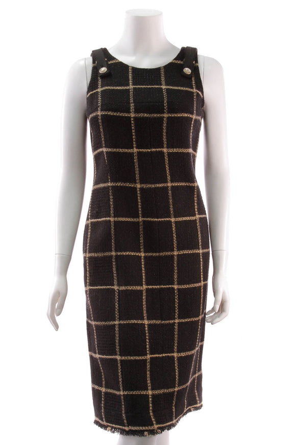 chanel-tweed-dress-blackcamel-wool