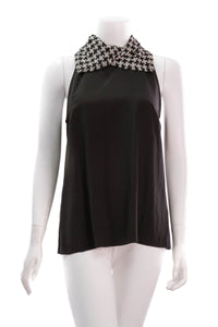 chanel-tweed-collar-top-blackwhite
