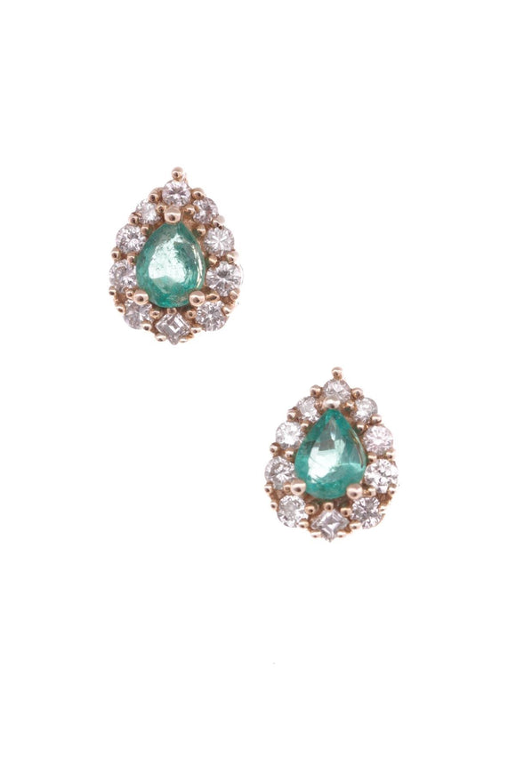 14k-yellow-gold-emerald-diamond-earrings