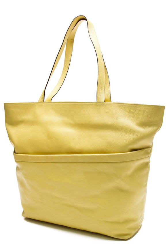 bottega-veneta-vintage-lizard-embossed-tote-bag-yellow