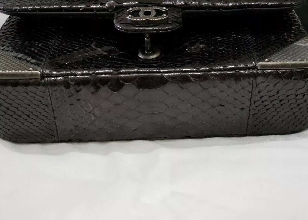 Chanel rock the corner python flap bag