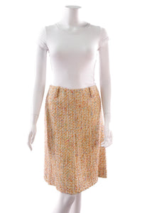 chanel-tweed-skirt-orange