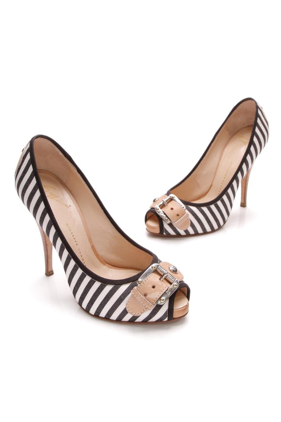 giuseppe-zanotti-buckle-peep-toe-pumps-black-white-stripe