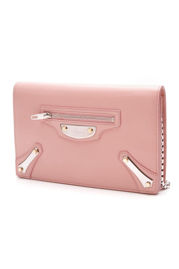 balenciaga-leather-metal-plate-city-chain-wallet-bag-rose-pink