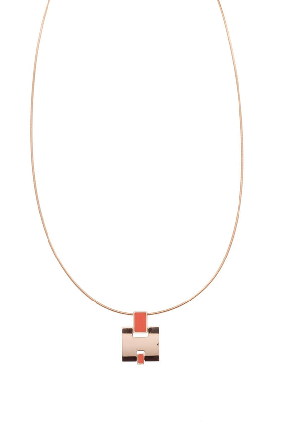 hermes-eileen-pendant-necklace-goldorange