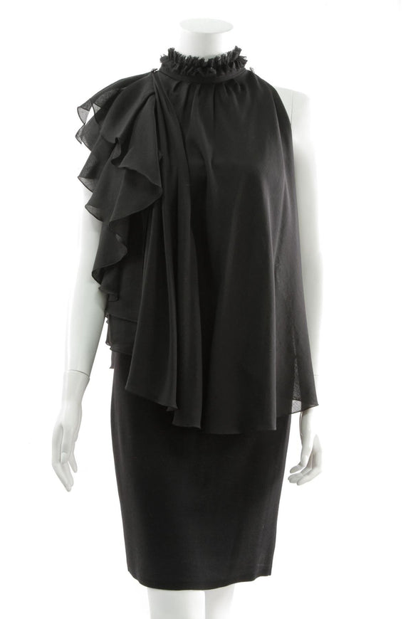 chanel-ruffle-top-black