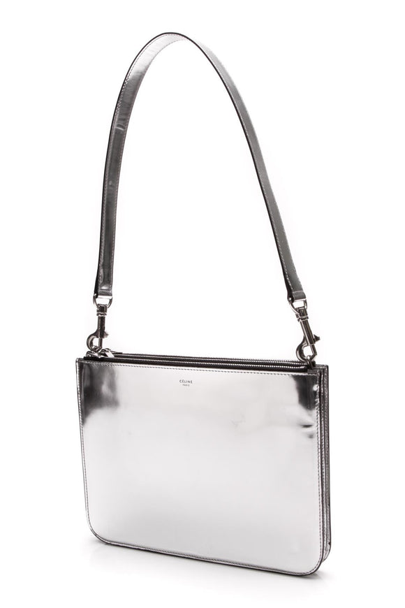 celine-oversized-trio-edge-bag-silver
