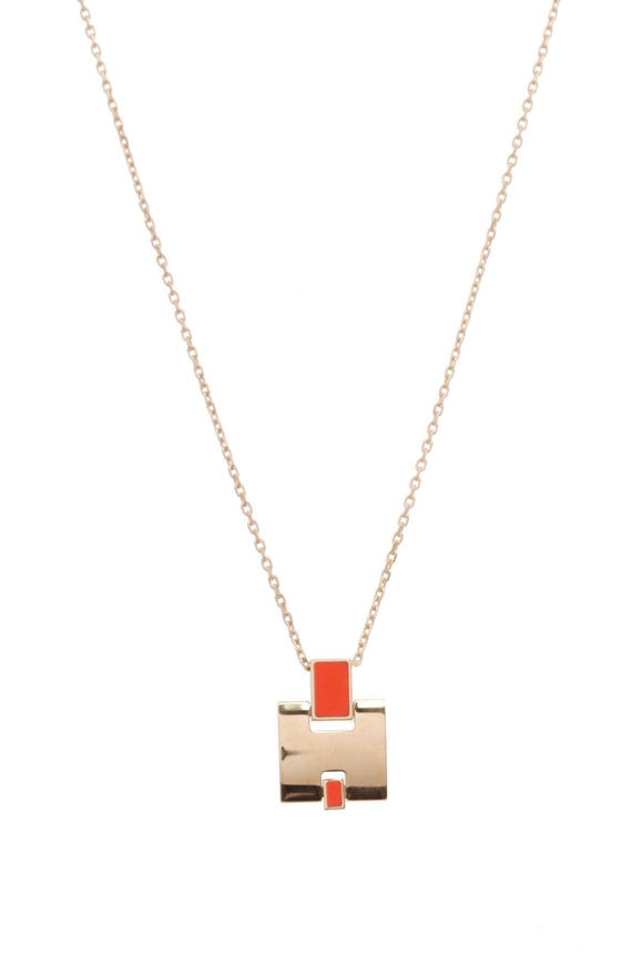 hermes-eileen-pendant-necklace-orange